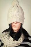 καπέλο ματιών η φορώντας χε Στοκ φωτογραφία με δικαίωμα ελεύθερης χρήσης