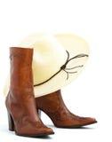 καπέλο μποτών cowgirl Στοκ εικόνες με δικαίωμα ελεύθερης χρήσης