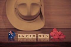 Καπέλο στρατού Anzac slouch με την αυστραλιανή σημαία Στοκ εικόνες με δικαίωμα ελεύθερης χρήσης
