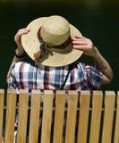 καπέλο το νέο άχυρό μου Στοκ εικόνες με δικαίωμα ελεύθερης χρήσης