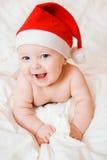 καπέλο Χριστουγέννων μωρώ&n στοκ εικόνες