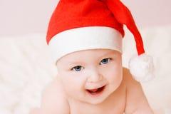 καπέλο Χριστουγέννων μωρώ&n στοκ εικόνα