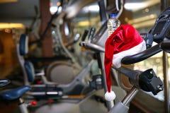 Καπέλο Santa στη σύγχρονη μηχανή ικανότητας Στοκ Εικόνες