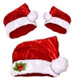 Καπέλο Santa Χριστουγέννων διανυσματική απεικόνιση