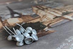 Καπέλα από το βελανίδι, κάρτα, σύσταση Στοκ Εικόνες