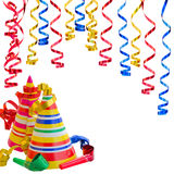 Καπέλα και Serpentine για τη γιορτή γενεθλίων Στοκ Φωτογραφίες