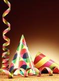 Καπέλα κώνων και ταινία εγγράφου για το κόμμα Στοκ φωτογραφία με δικαίωμα ελεύθερης χρήσης