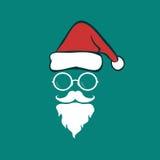 Καπέλα Santa και γενειάδες και eyeglasses Στοκ φωτογραφίες με δικαίωμα ελεύθερης χρήσης