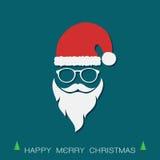 Καπέλα Santa και γενειάδες και eyeglasses Στοκ Εικόνες