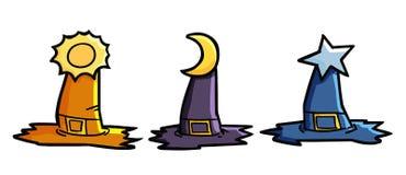 3 καπέλα Witchs Στοκ Εικόνες
