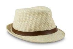 Καπέλο αχύρου που απομονώνεται στο άσπρο υπόβαθρο Στοκ φωτογραφία με δικαίωμα ελεύθερης χρήσης