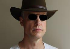 Καπέλο γυαλιών ηλίου ατόμων Στοκ εικόνες με δικαίωμα ελεύθερης χρήσης