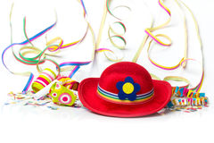 Καπέλο καρναβαλιού, κομφετί, διακόσμηση Στοκ Εικόνες
