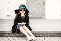καπέλο κοριτσιών λίγα Στοκ Εικόνες