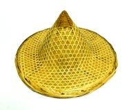 Καπέλο μπαμπού παράδοσης που απομονώνεται στο άσπρο υπόβαθρο Στοκ Φωτογραφία