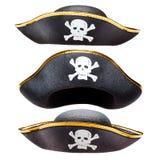 Καπέλο πειρατών που απομονώνεται Στοκ Φωτογραφίες
