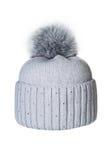 Καπέλο που απομονώνεται χειμερινό Στοκ Φωτογραφίες