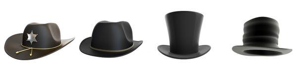 Καπέλο που τίθεται σε ένα άσπρο υπόβαθρο απεικόνιση αποθεμάτων