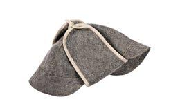 Καπέλο σαουνών που απομονώνεται στο λευκό στοκ φωτογραφίες με δικαίωμα ελεύθερης χρήσης