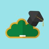 Καπέλο στο σύννεφο πινάκων ελεύθερη απεικόνιση δικαιώματος