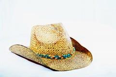 Καπέλο Cowgirl με τη διακοσμημένη με χάντρες ζώνη καπέλων Στοκ Εικόνα