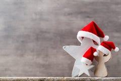 Καπέλο santa αστεριών Χριστουγέννων Πρότυπο Χριστουγέννων Υπόβαθρο Στοκ εικόνες με δικαίωμα ελεύθερης χρήσης