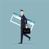 Καπετάνιος αεροσκαφών Στοκ εικόνες με δικαίωμα ελεύθερης χρήσης