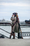 Καπετάνιος ενός σκάφους πειρατών Στοκ εικόνες με δικαίωμα ελεύθερης χρήσης