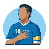 Καπετάνιος ποδοσφαίρου Στοκ Εικόνες
