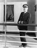 Καπετάνιος στο σκάφος του (όλα τα πρόσωπα που απεικονίζονται δεν ζουν περισσότερο και κανένα κτήμα δεν υπάρχει Εξουσιοδοτήσεις πρ Στοκ Εικόνες