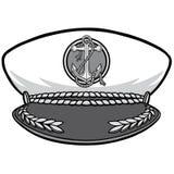 Καπετάνιος Cap Illustration Στοκ Εικόνες