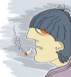 Καπνίζοντας άτομο Στοκ Φωτογραφίες