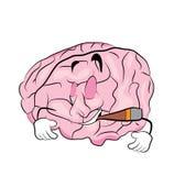 Καπνίζοντας κινούμενα σχέδια με το lollipop Στοκ εικόνα με δικαίωμα ελεύθερης χρήσης
