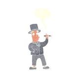 καπνίζοντας κύριος κινούμενων σχεδίων με τη λεκτική φυσαλίδα Στοκ εικόνα με δικαίωμα ελεύθερης χρήσης