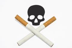 Καπνίζοντας προειδοποιητικό σημάδι Στοκ Εικόνες