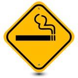 Καπνίζοντας σημάδι περιοχής Στοκ Εικόνα