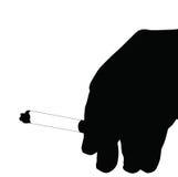 Καπνίζοντας σκιαγραφία χεριών Στοκ φωτογραφία με δικαίωμα ελεύθερης χρήσης