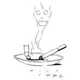 καπνίζοντας στάση ελεύθερη απεικόνιση δικαιώματος