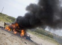 Καπνίζοντας συντρίμμια Στοκ εικόνες με δικαίωμα ελεύθερης χρήσης
