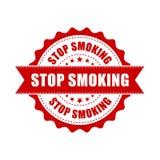 Καπνίζοντας grunge σφραγίδα στάσεων Διανυσματική απεικόνιση στο άσπρο β διανυσματική απεικόνιση