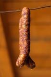 Καπνισμένα λουκάνικα χοιρινού κρέατος Στοκ Φωτογραφία