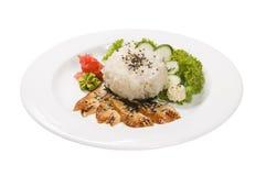 Καπνισμένη πιπερόριζα wasabi ρυζιού χελιών Στοκ φωτογραφία με δικαίωμα ελεύθερης χρήσης