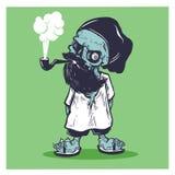 Καπνισμένο γενειοφόρο ύφος χίπηδων κρανίων ελεύθερη απεικόνιση δικαιώματος