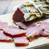 Καπνισμένο κρέας άγριων κάπρων στοκ εικόνες με δικαίωμα ελεύθερης χρήσης