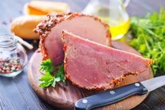 Καπνισμένο κρέας στοκ φωτογραφίες