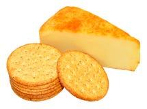 Καπνισμένο τυρί τυριού Cheddar της Apple ξύλο Στοκ φωτογραφίες με δικαίωμα ελεύθερης χρήσης