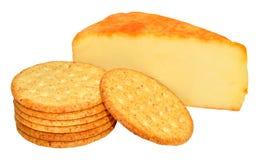 Καπνισμένο τυρί τυριού Cheddar της Apple ξύλο Στοκ Φωτογραφία
