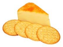 Καπνισμένο τυρί τυριού Cheddar της Apple ξύλο Στοκ εικόνες με δικαίωμα ελεύθερης χρήσης