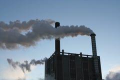 καπνοί εργοστασίων Στοκ Φωτογραφία