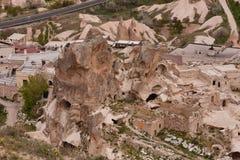 Καπνοδόχοι νεράιδων και σπίτια πετρών Cappadocia Στοκ φωτογραφία με δικαίωμα ελεύθερης χρήσης